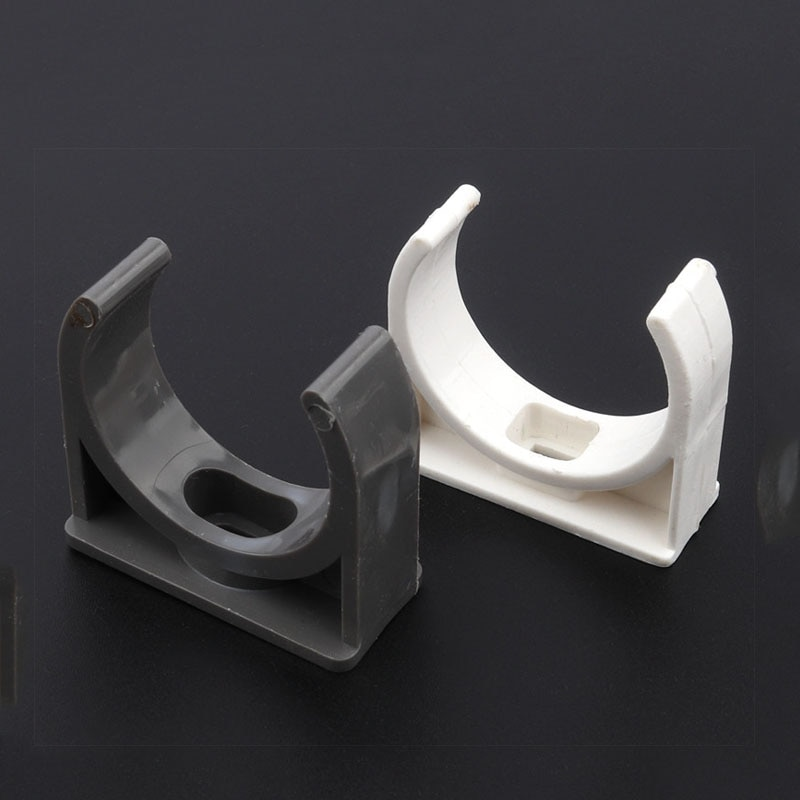 PVC Pipe Clamp  Steady Fixed U-type Water Pipe Clip Clamp Strap White/Grey 20mm 25mm 32mm 40mm 50mm