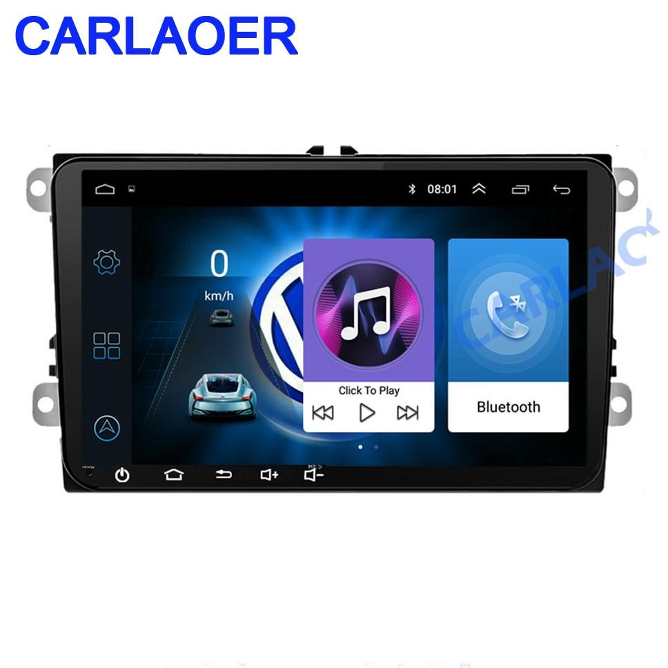 Android Car radio GPS navegación 2DIN para Volkswagen SKODA GOLF 5 Golf 6 POLO PASSAT B5 B6 asiento TIGUAN 2 DIN reproductor Multimedia