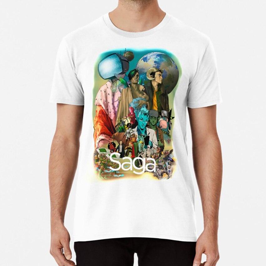 Saga komiks postacie geek T shirt