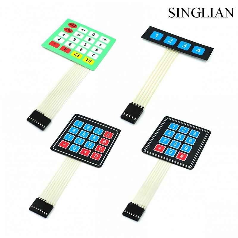 Nuevo 1 Uds. Módulo de teclas 4*4/1*4/3*4/4*5 teclado de matriz chip único microordenador teclado de membrana extendido
