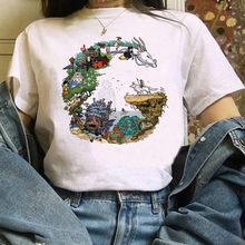 T-Shirt féminin Del Fumetto di Totoro T-Shirt Mille e Chihiro T-Shirt stampata Studio Ghibli Maglietta anime graphiques