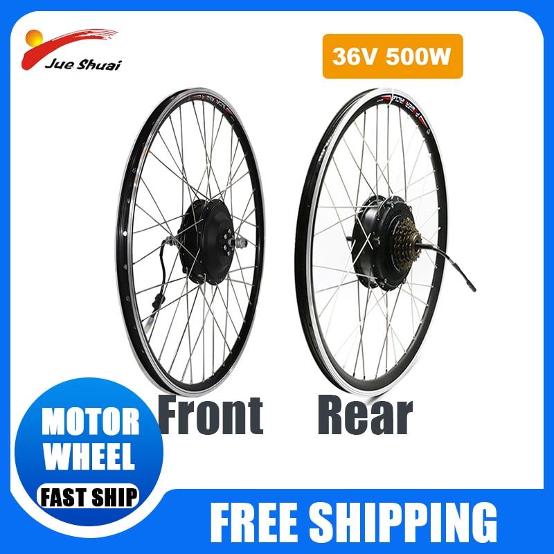 Kit de conversión de bicicleta eléctrica, Motor trasero de rueda de cambio...