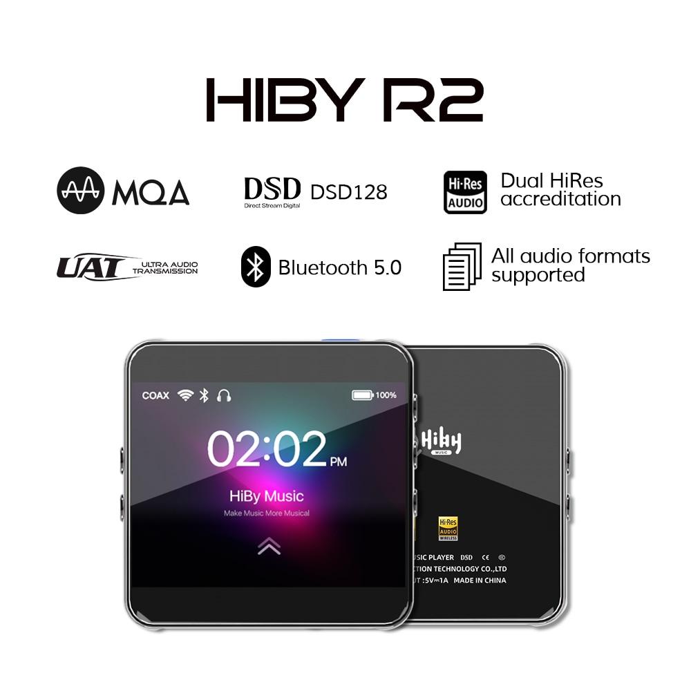 HiBy R2 شبكة تدفق مشغل موسيقى يستأجر ضياع الصوت الرقمي المد والجزر MQA 5Gwifi LDAC DSD راديو ويب بلوتوث 5.0