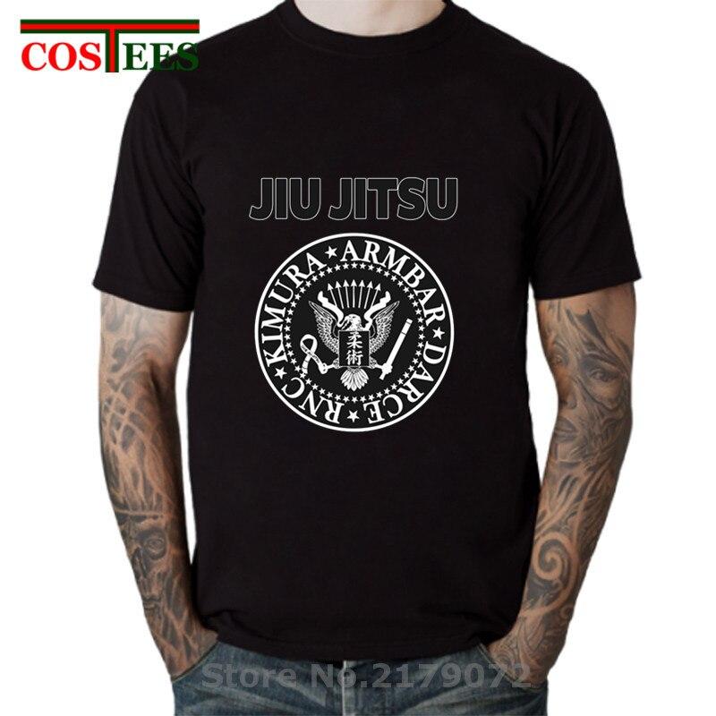 Rock & Roll Jiu Jitsu T camisa de los hombres de Hip Hop mma BJJ Tee camisa streetwear brasileño Jiu Jitsu GI camisetas UFC BJJ NOGI talla