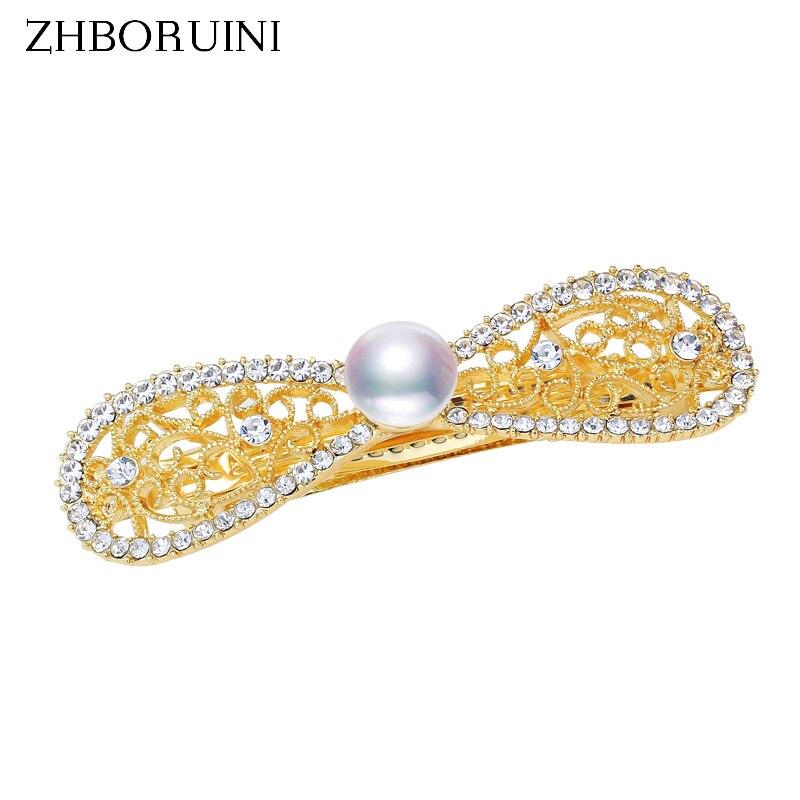 Perla zhboruini cuentas Clip de pelo para mujer de perlas de agua dulce de pasador de belleza hecha a mano pelo accesorios de Pin Dropshipping. Exclusivo.