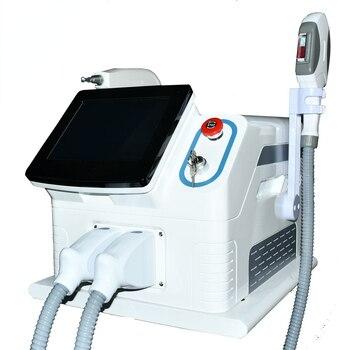 2 in 1 Portable Multifunction Beauty Machine Laser Hair Tatoo Removal Machine IPL+Nd Yag Laser Machine with laser beam