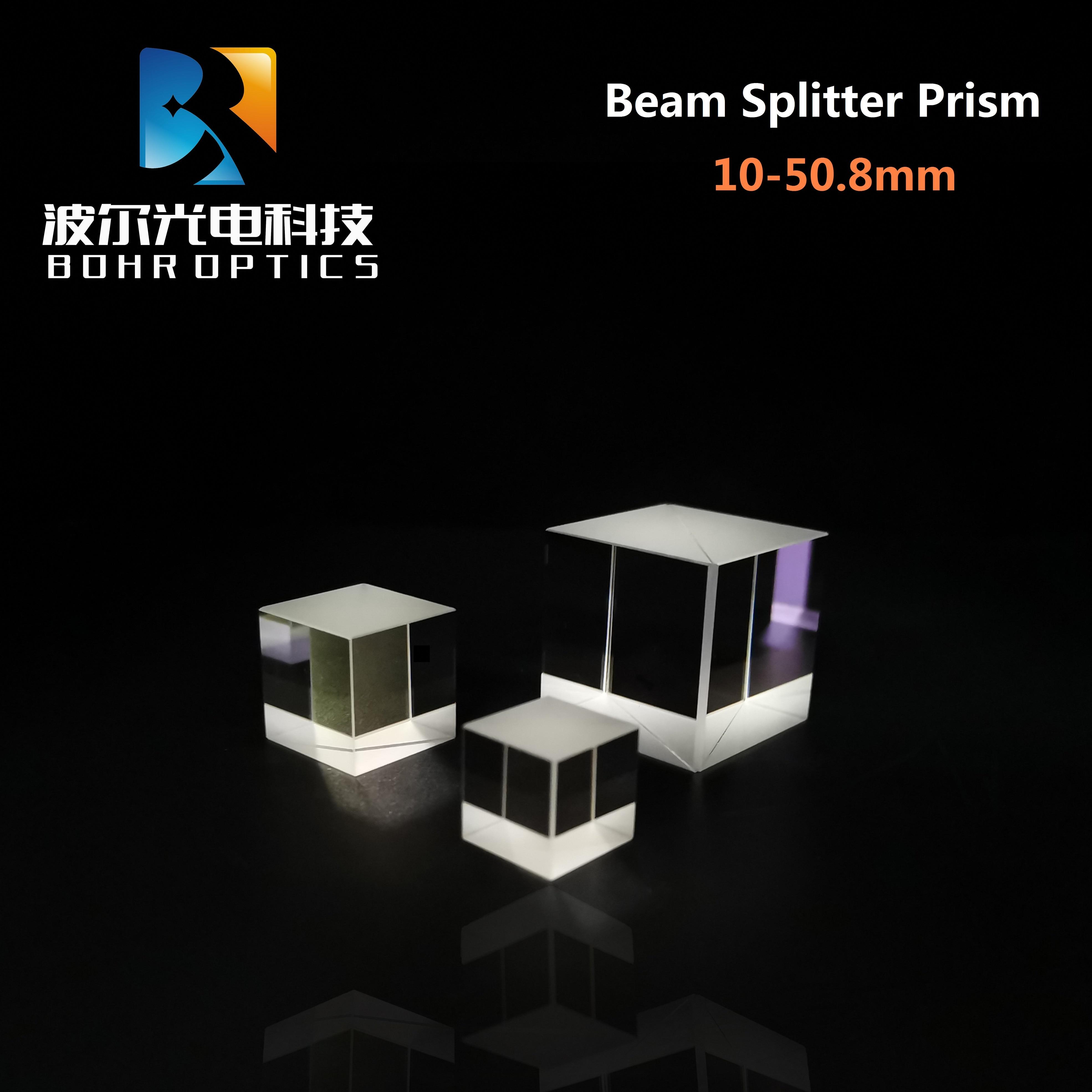 Beam Splitter /Non-polarizing Cube Beam Splitter Prism (NPBS) N-BK7 Optical Glass for Precision opti