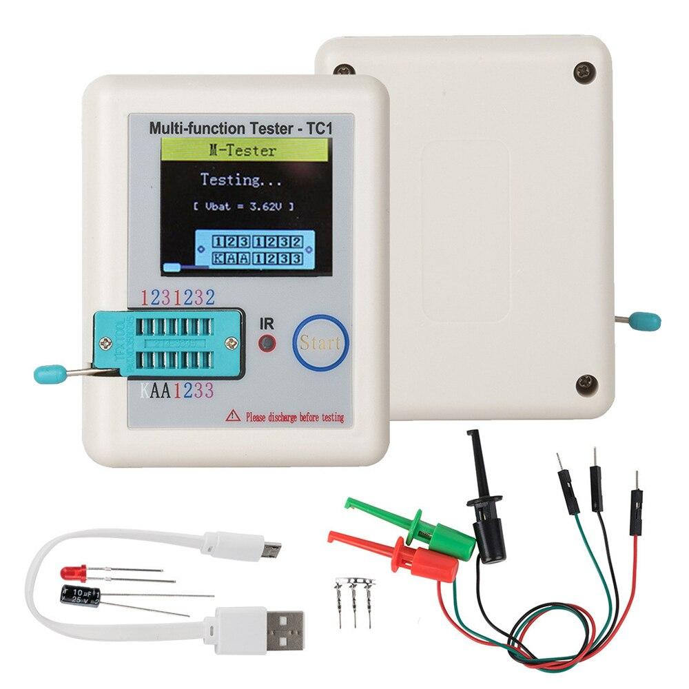 Диагональ 1,8 дюйма, Φ, мультиметр-тестер транзисторов, цветной дисплей для диода, триода, MOS/PNP/NPN, конденсаторный резистор, транзистор