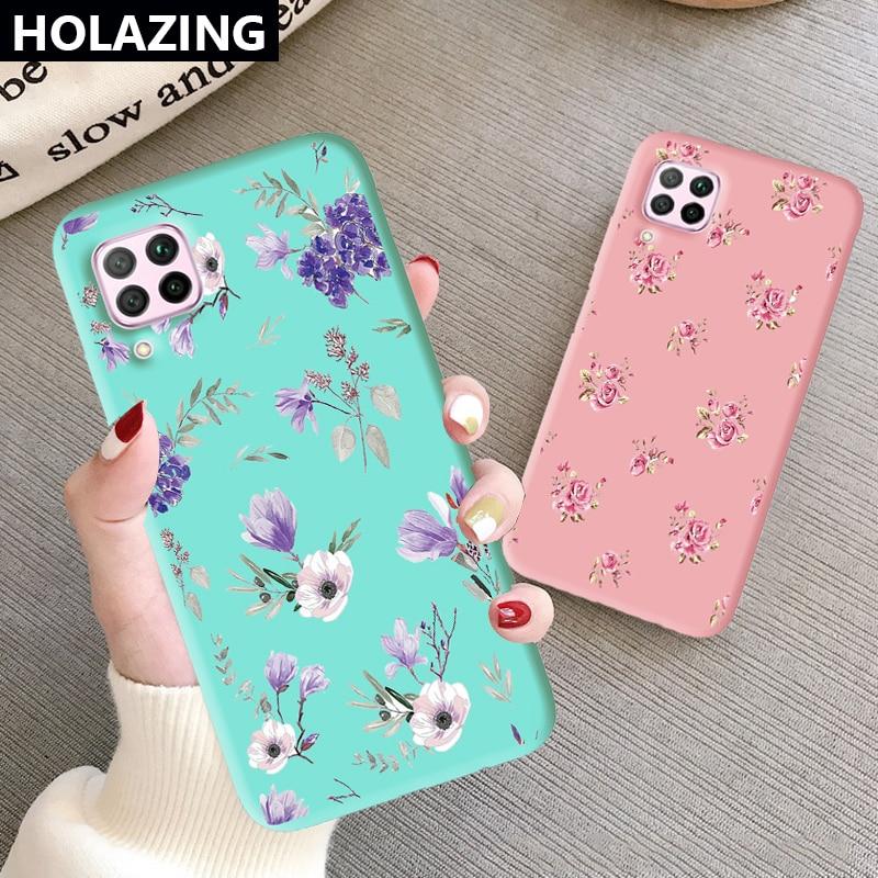 Lavender Flower Phone Case for Huawei Nova 7i 6 7 SE Nova 5T 5 5T 5i Pro 4 4E 3E 3i 3 Luxury Women Cover Silicone