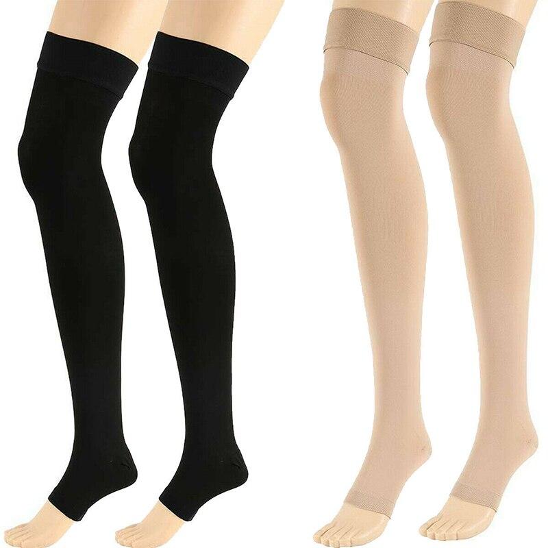С открытым носком сапоги до колена высокие медицинские компрессионные чулки варикозное расширение вен чулок компрессионный бандаж Обёрточная бумага для формовки для Для женщин Мужчины 18 21 мм| |   | АлиЭкспресс