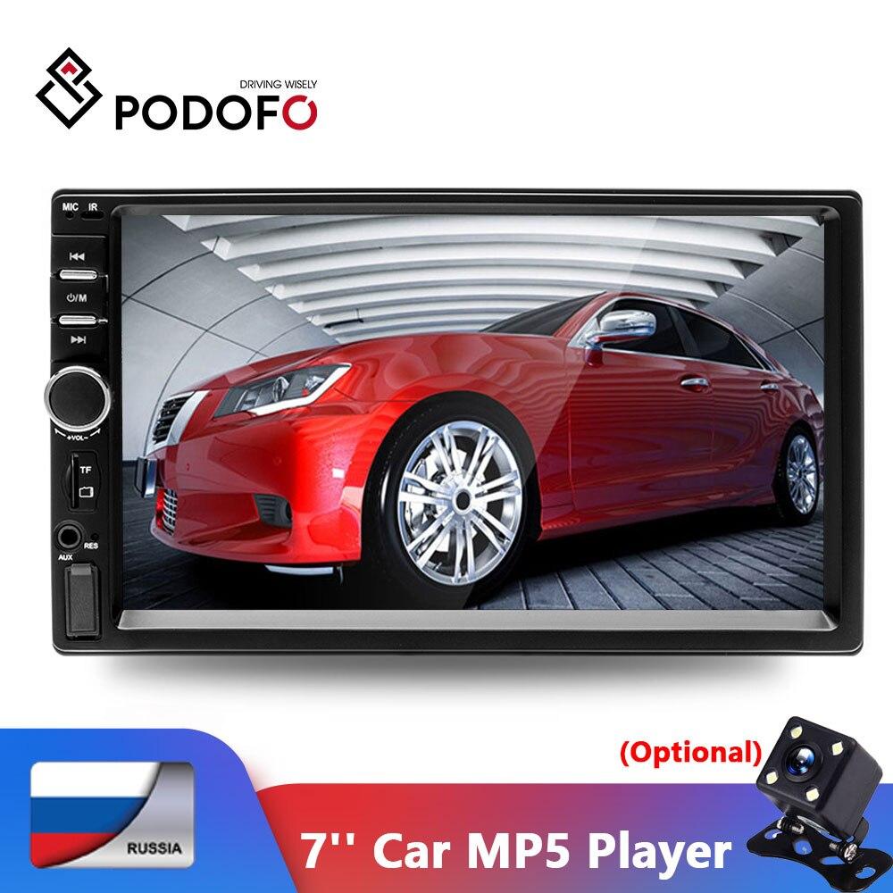 Podofo 2Din Auto Radio Auto Video Player 7''HD Player MP5 Touchscreen Digital Display Bluetooth Multimedia 2DIN AUtoradio Stereo