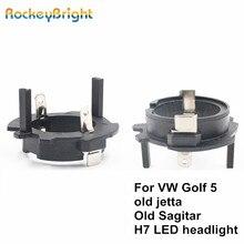 Rockeybright-clip de retenue pour Volkswagen   Clips de retenue pour Volkswagen, OldJetta Sagitar golf, adaptateur 5 led H7 douille de phare, porte-ampoule h7