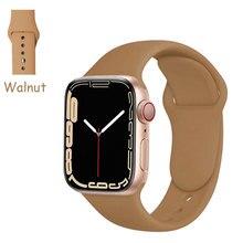 Cinturino in Silicone per cinturino Apple Watch 44mm 40mm 38mm 42 Mm cinturino per cinturino Apple Watch Correa per serie Iwatch 6 Se 5 4 3