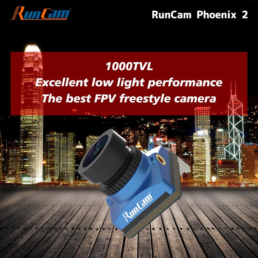 RunCam فينيكس 2 حرة طائرة بدون طيار FPV المروحية كاميرا 1000TVL جوشوا COMS PAL / NTSC للتحويل ل كوادكوبتر فينيكس2 نانو