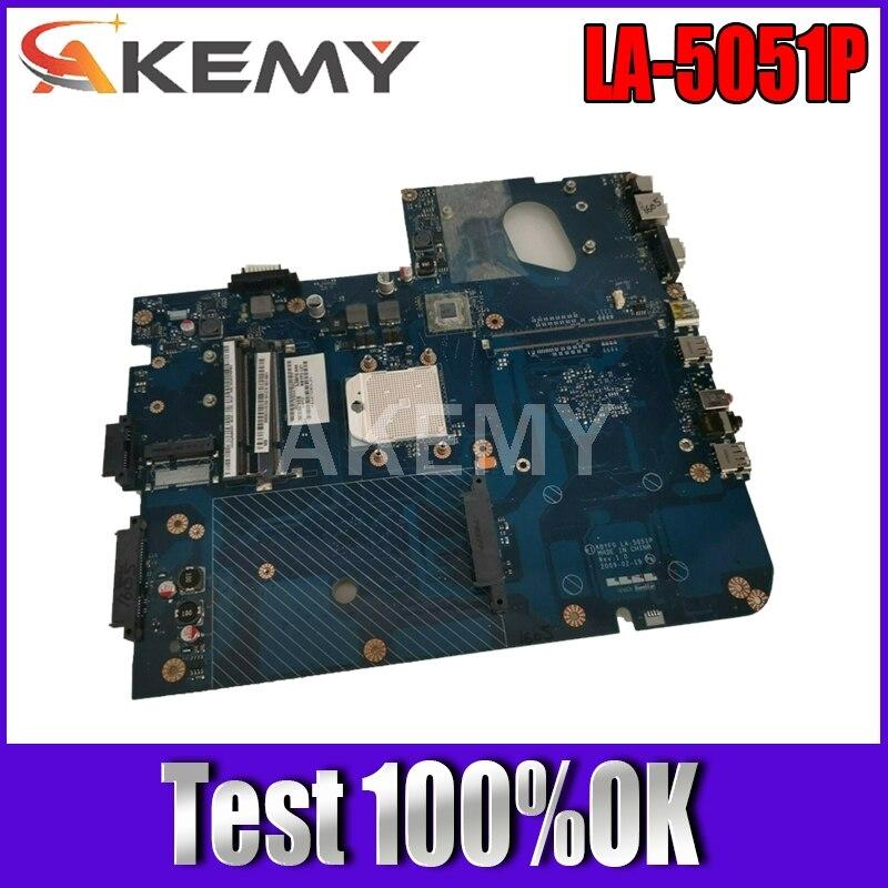 Akemy MBBDU02001 اللوحة ل باكارد ديل EASYNOTE LJ71 J73 ل بوابة NV73 اللوحة الرئيسية DDR2 الحرة وحدة المعالجة المركزية LA-5051P