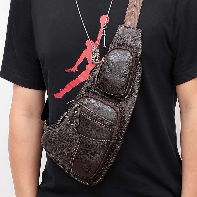 Fashion Men Chest Bag Shoulder Messenger Sports Bag Retro Simplicity Men's Bag Chest Pack