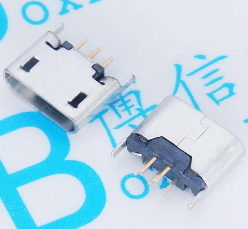 1000 قطعة/شقة ميناء مايكرو 5P أنثى المقبس 180 درجة مايكرو 5p أنثى المقبس مايكرو 5p مقبس USB