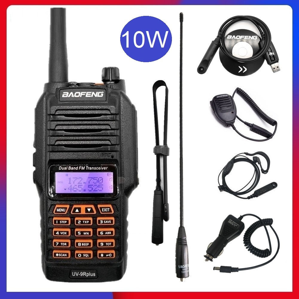 10W BAOFENG UV-9R PLUS Walkie Talkie Waterproof VHF UHF Ham CB Radio Station uv9r High Power Two Way Radio Transceiver 20KM