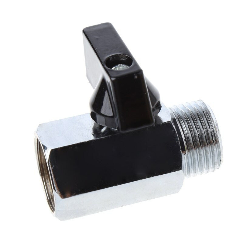 1 8 1 4 3 8 1 2 threaded mini brass ball valve bsp male to female air compressor valves water gas oil shut off valve Mini Brass Ball Valve 1/2 1/8 1/4 3/8 BSP Male to Female Thread Air Compressor Control Hose Connector Adapter