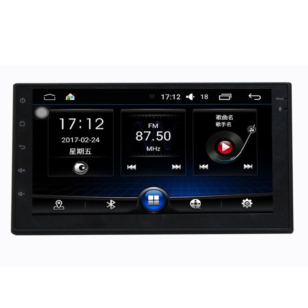 7 pulgadas FM WIFI para coche HD 1 + 16G música GPS navegación Audio estéreo REPRODUCTOR DE MP5 accesorios Android Universal Multimedia pantalla grande