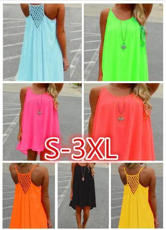2021 Summer Style 7 COLORS Women Clothing Beach Dress Fluorescence Female Chiffon Voile Plus Size