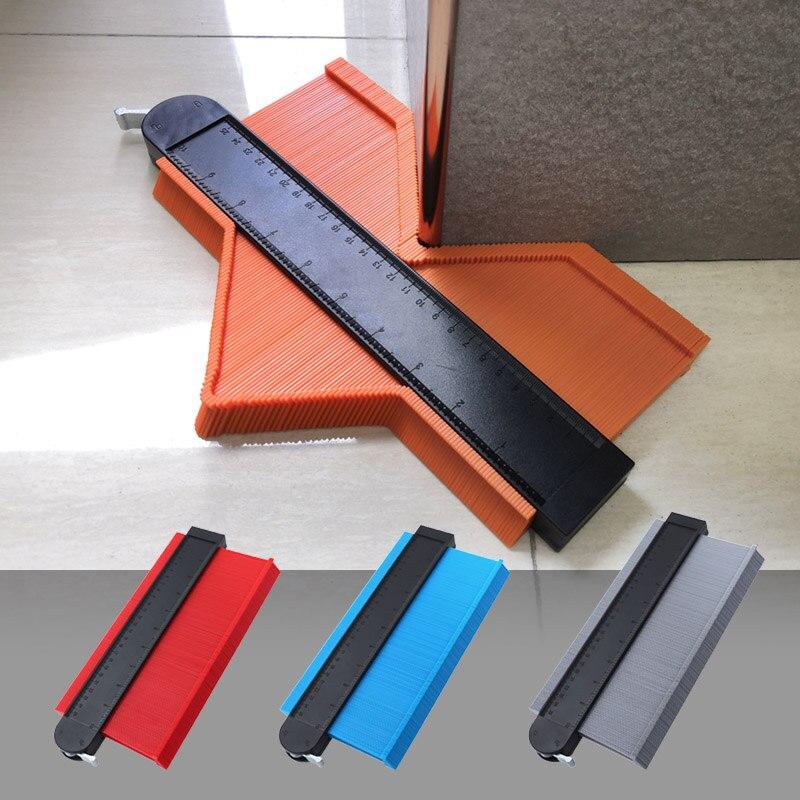 5 cont/ 10 contcontorno calibre de bloqueio metal ampliar abs alumínio núcleo perfil calibre tiling laminado telhas borda forma duplicador ferramenta de medição
