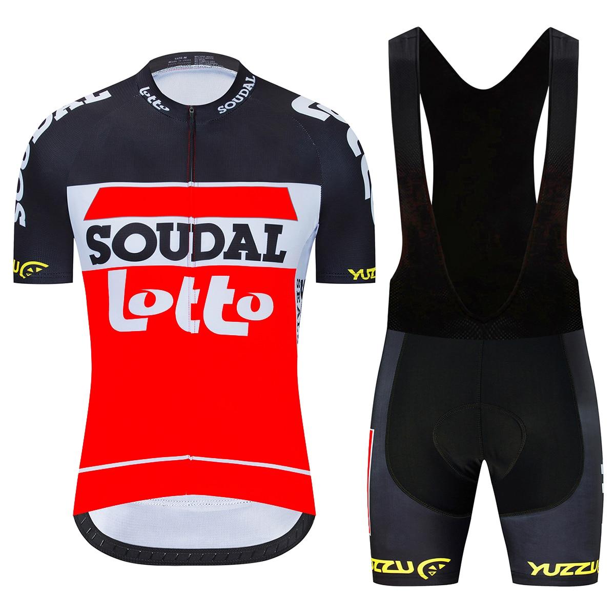 2020 equipo lotto soudal Ciclismo jersey 19D bicicleta pantalones cortos conjunto MTB Ropa Ciclismo hombres manga corta Camisetas de bicicleta Maillot Ropa