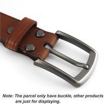 Hebilla de cinturón para hombre de 1x40mm de Metal cepillado, barra de extremo de moda, hebillas de un solo Pin para correa de 37mm-39mm, piezas artesanales de cuero