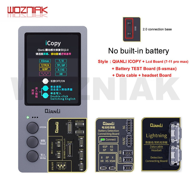 QIANLI nuevo 2,1 iCopy Plus LCD pantalla fotómetro para iphone