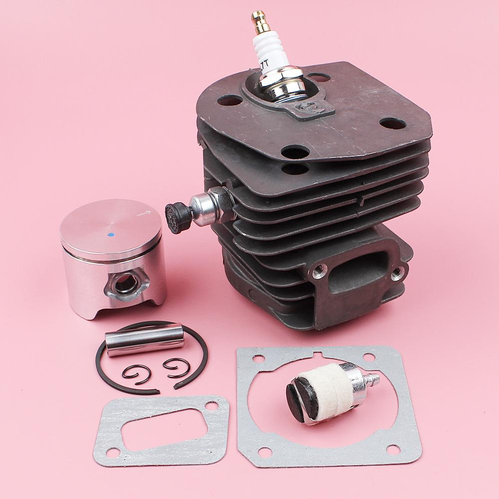 44mm Zylinder Motor Rebuild Kit Für Jonsered CS2152 CS2150 CS2149 CS2153 Kettensäge Kompression Release Schalldämpfer Dichtung Kraftstoff Filter