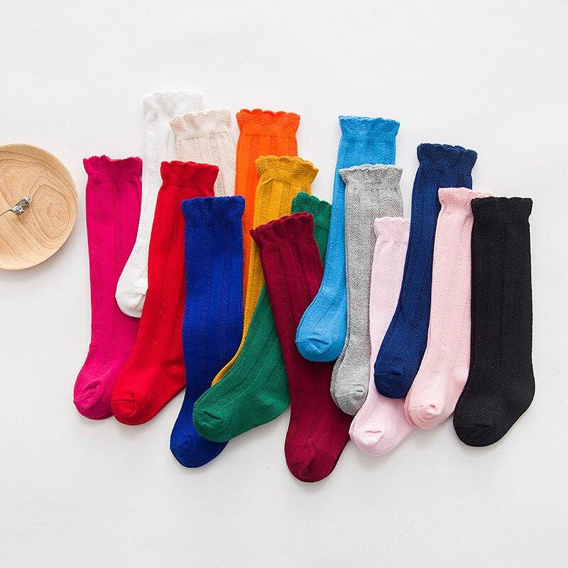 New Baby Socks Kids Cotton Frilly Socks  Infant Knee High Socks Dropshipping 2020 Best Selling Produ