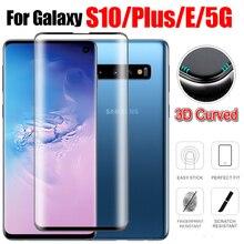 3D oryginalny do Samsung Galaxy S10 Lite szkło hartowane na S 10 Plus + S10 + S10e Samsung Samsun ochronne bezpieczeństwa Film telefon Glas