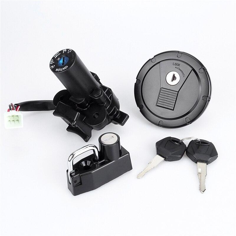 مفتاح الإشعال للدراجة النارية قفل غطاء خزان الوقود الغاز غطاء مفتاح مجموعة لكاواساكي D-المقتفي KLX125 KLX250 KLX250S KLX250SF 2001-2014