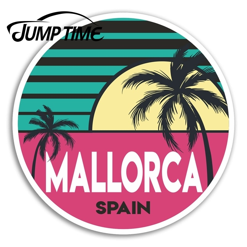 Jump Time for Mallorca Spain Vinyl Stickers Travel Sticker Laptop Luggage Decal Window Tank Waterproof Car Decoration