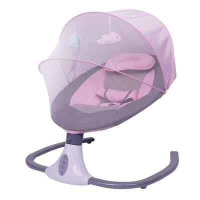 Baby electric rocking chair crib coaxing baby to sleep artifact newborn comfort cradle liberating mother's hands enlarge