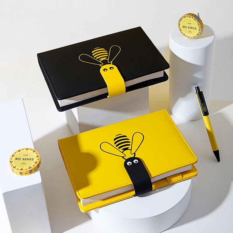 2020/2021 agenda planejador organizador a5 diário de viagem semanal notebook grade diário bloco de notas espiral abelha livro bonito diário manual