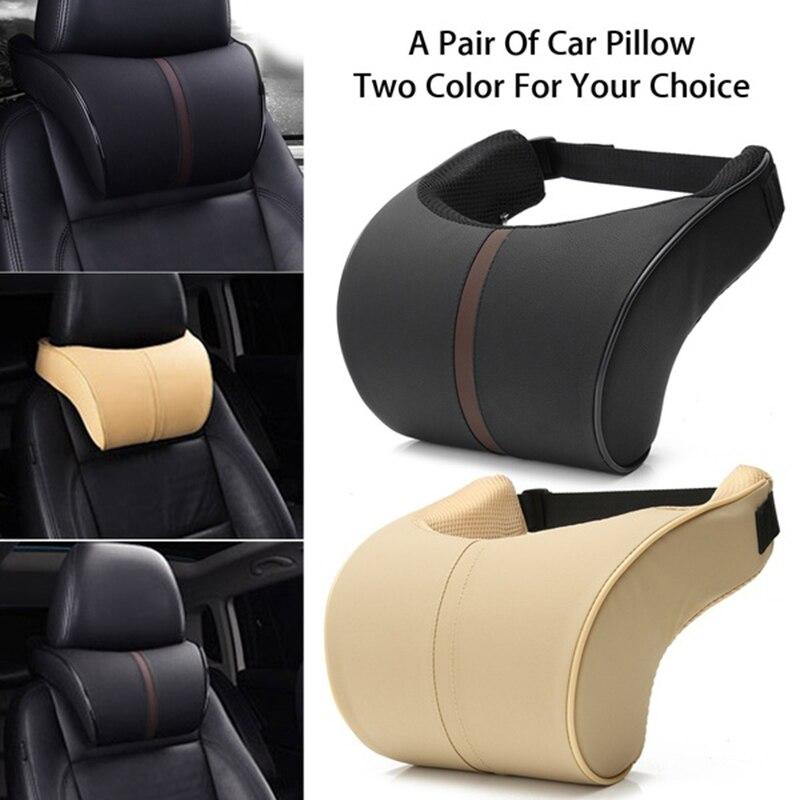 Подушка для автомобильного подголовника, подушка для шеи, подушка для автомобильного кожаного подголовника с эффектом памяти, хлопковая По...