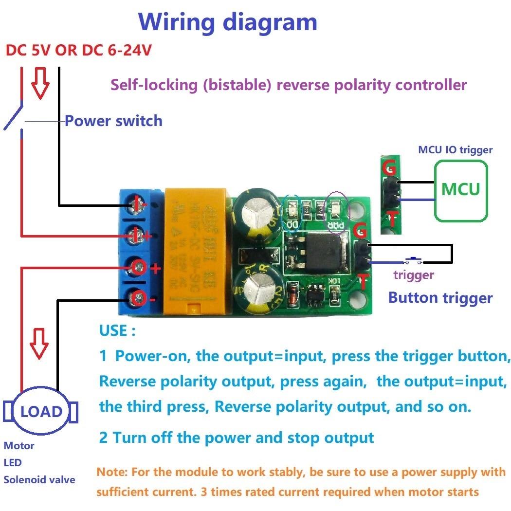 Controlador de interruptor de polaridad invertida biestable de bloqueo automático cc 5-24V 2A para Arduino UNO MEGA2560 stm32 nodemcu sensor