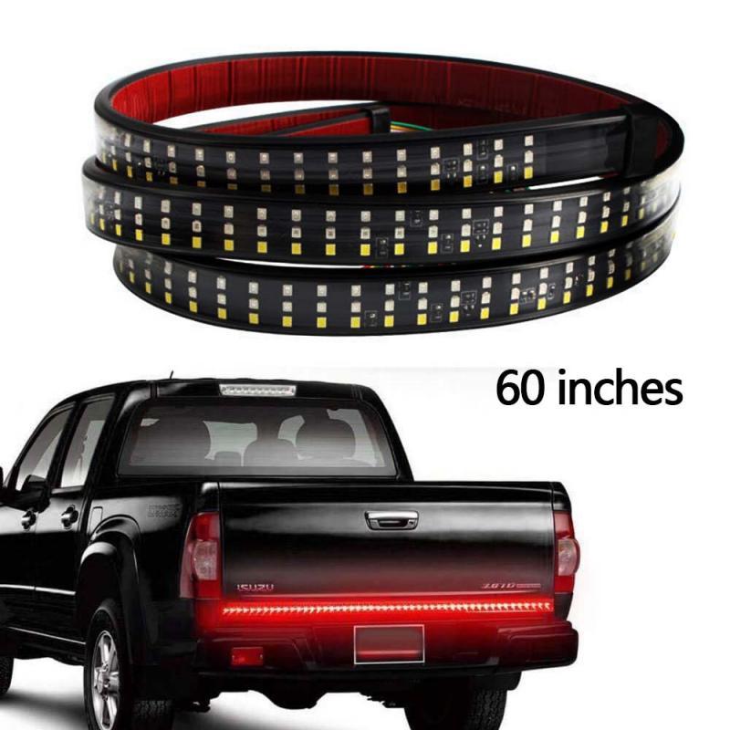 60 pulgadas 12V camión portón trasero de tira de luz LED Bar Triple fila 5 función inversa de freno señal para Jeep Pickup SUV Dodge