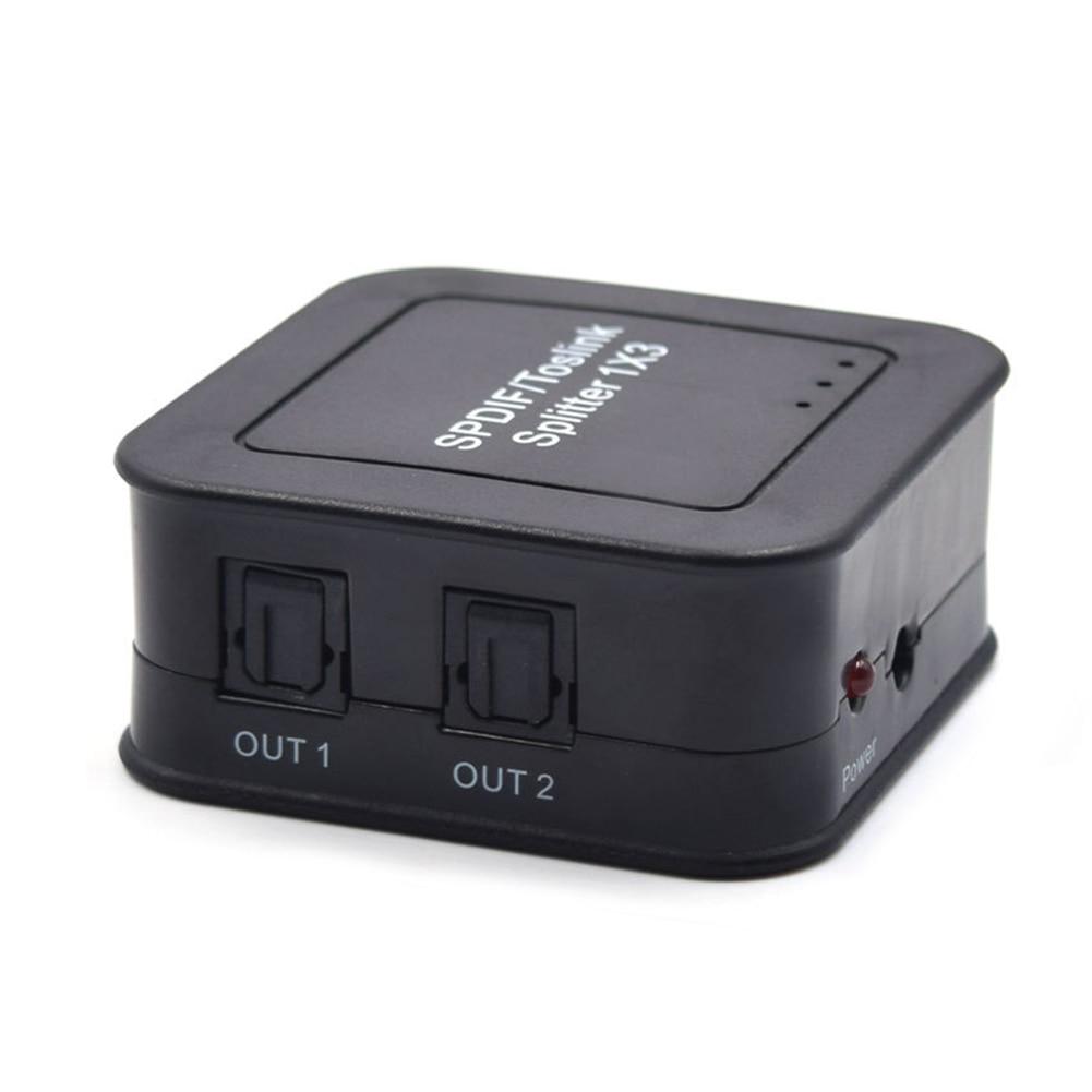 Разделитель SPDIF TOSLINK 1x3 цифровой волоконно-оптический сплиттер 1 вход 3 аудио выход сплиттер адаптер Поддержка LPCM2.0 DTS