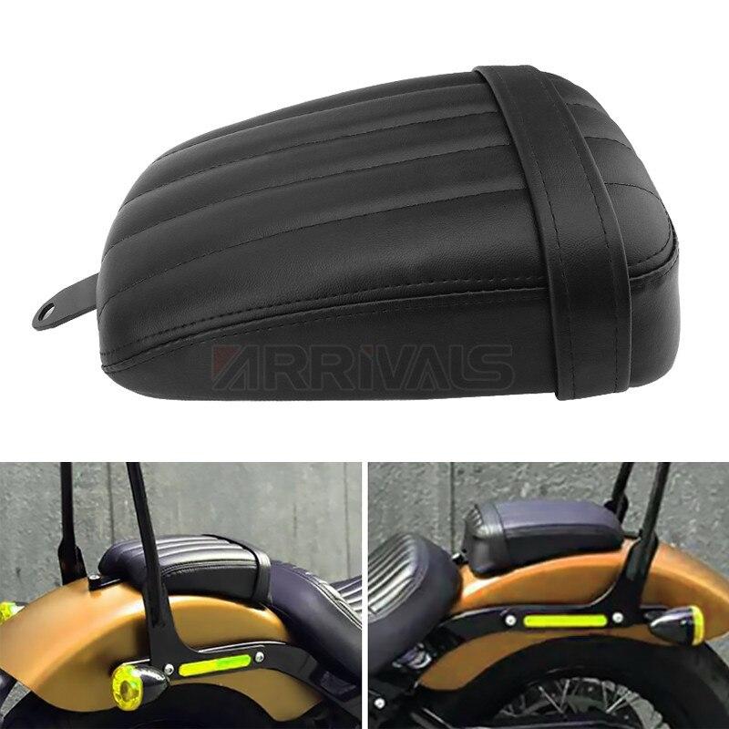1 قطعة دراجة نارية جلد أسود الخلفية مقعد المقعد الخلفى مقعد الراكب وسائد ل هارلي سوفتيل شارع بوب 2018-2020 FXBB نموذج