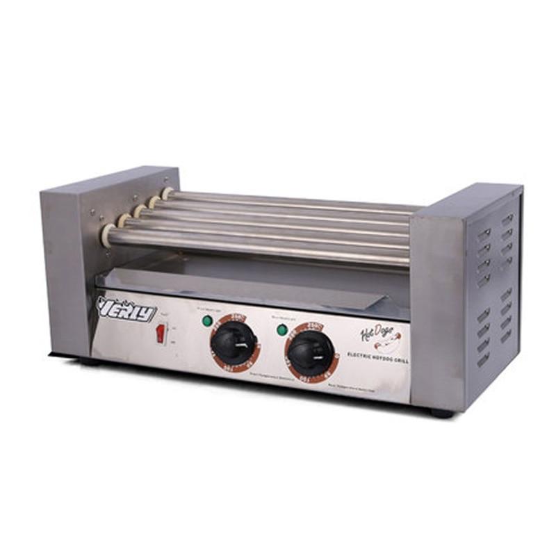 آلة تسخين سجق, للإستخدام التجاري مع 5 أنابيب لشواية هوت دوج
