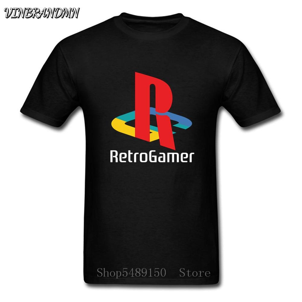 Retro PS logotipo 3D impresión camiseta Playstation Final Fantasy juego juegos de Video clásico de los hombres T camisa Gamer camiseta negra hombre