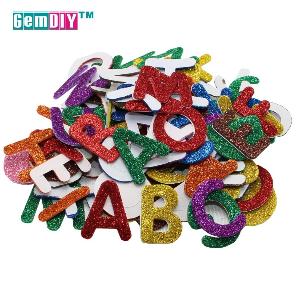 3cm 0-9 Arabische Cijfers Glitters Foam Papier Kraftpapier Goud Ambachtelijke Papier Poeder Handgemaakte Papier Ambachten Decor DIY
