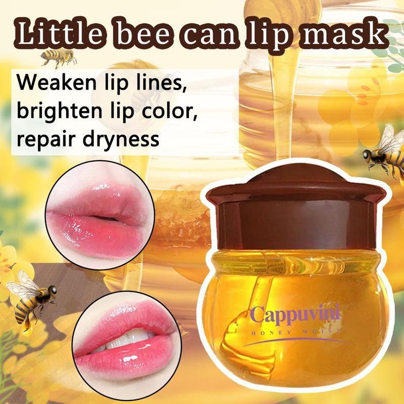 4ml Bee Lip Mask Moisturizing Silky Propolis Lip Mask Night Repair Repair Lip Little Bee Jar Lip Mask F8S3