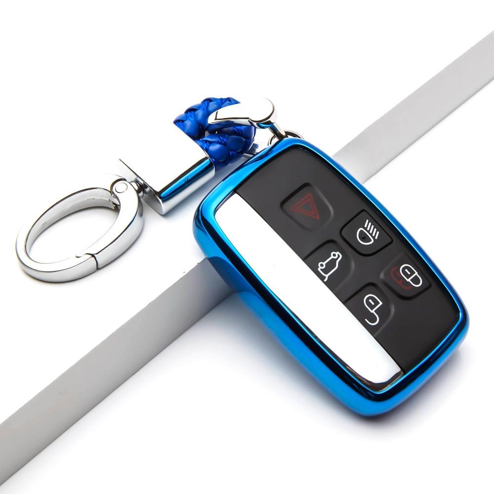 TPU Car Key Cover Protection Case For For Jaguar XF XK XKR X-type XE V12 Guitar Scissors Auto Key Shell Bag Car Styling
