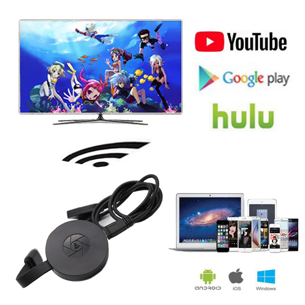 HDMI WiFi Display Dongle YouTube AirPlay Miracast TV Stick for Google Chromecast 2 3 Chrome Crome Cast Cromecast 2