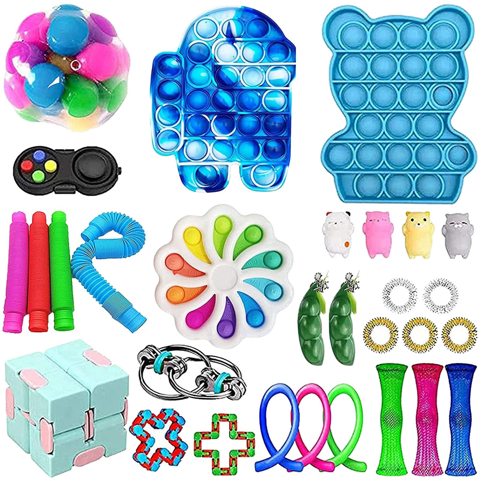 30PC Cheap Fidget Toys Anti Stress Set Strings Relief Pack Gift for Adults Children Figet Sensory Squishy Relief Antistress 2021 enlarge