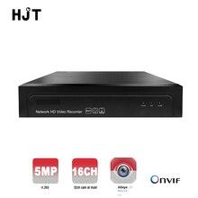 Hjt 16ch nvr 5mp h.265 네트워크 비디오 레코더 onvif p2p 원격 뷰 hdmi 카메라