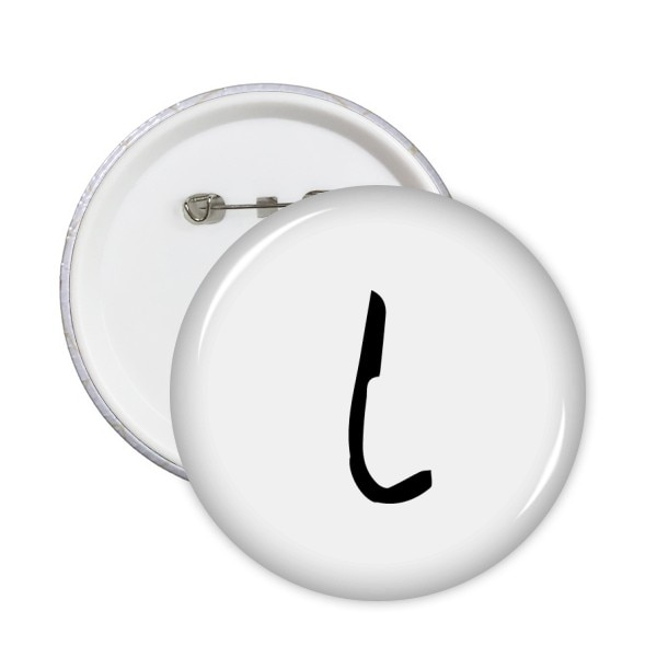 Alfabeto griego Iota silueta negra pines redondos insignia botón decoración de ropa regalo 5 uds